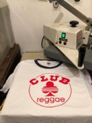 Club Reggae White ringer Blue trim T shirt